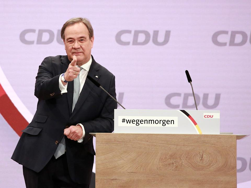<p>The premier of North Rhine-Westphalia has presented himself as a continuity candidate</p> (Getty)