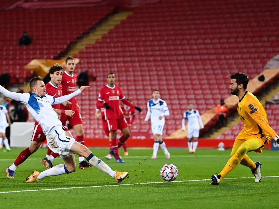 <p>Liverpool suffered a setback against Atalanta</p>Getty