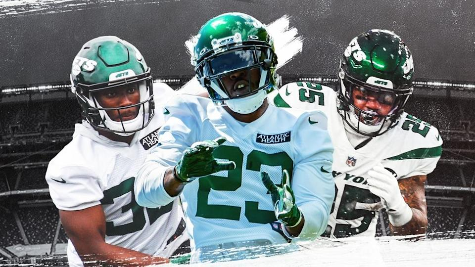 Jets' Michael Carter, Tevin Coleman and Ty Johnson treated image