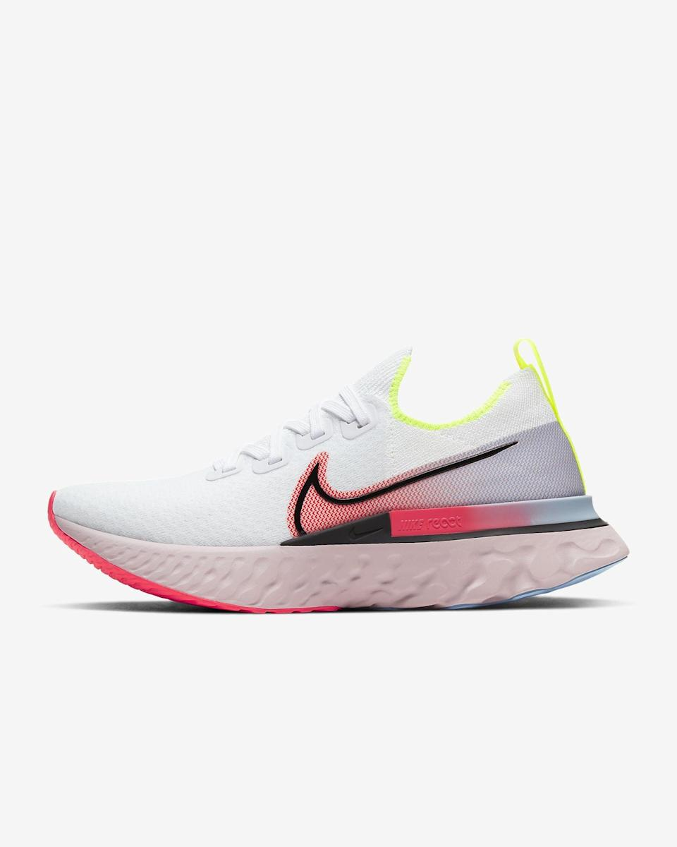 "<p>These <a href=""https://www.popsugar.com/buy/Nike-React-Infinity-Run-Flyknit-Sneakers-568289?p_name=Nike%20React%20Infinity%20Run%20Flyknit%20Sneakers&retailer=nike.com&pid=568289&price=160&evar1=fit%3Aus&evar9=45192674&evar98=https%3A%2F%2Fwww.popsugar.com%2Ffitness%2Fphoto-gallery%2F45192674%2Fimage%2F47420166%2FNike-React-Infinity-Run-Flyknit-Sneaker&list1=shopping%2Cshoes%2Csneakers%2Cnike%2Cadidas%2Crunning%20shoes%2Cworkouts%2Capl%2Cfitness%20shopping&prop13=api&pdata=1"" class=""link rapid-noclick-resp"" rel=""nofollow noopener"" target=""_blank"" data-ylk=""slk:Nike React Infinity Run Flyknit Sneakers"">Nike React Infinity Run Flyknit Sneakers</a> ($160) were made to help prevent injury. They're comfortable essentials.</p>"