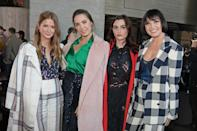 LONDON, ENGLAND - FEBRUARY 17: (L to R) Millie Mackintosh, Amber Le Bon, Charli Howard and Daisy Lowe attend the Roland Mouret show during London Fashion Week February 2019 at The National Theatre on February 17, 2019 in London, England. (Photo by David M. Benett/Dave Benett/Getty Images)