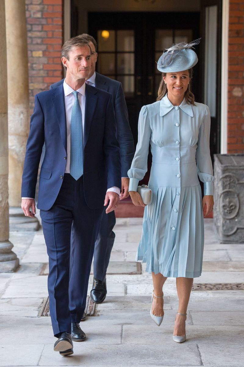 Pippa Middleton Wore a Regal Maternity Look for Prince Louiss Christening