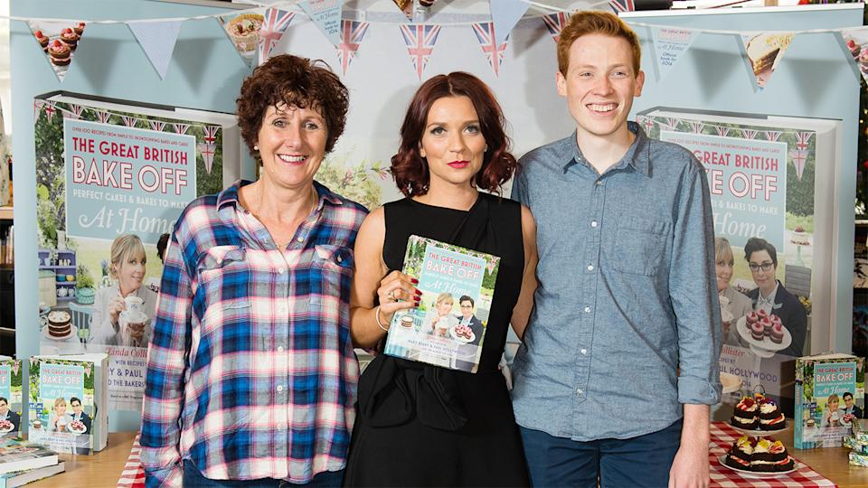 Candice Brown with the other finalists from Bake Off 2016, Jane Beedle and Andrew Smyth