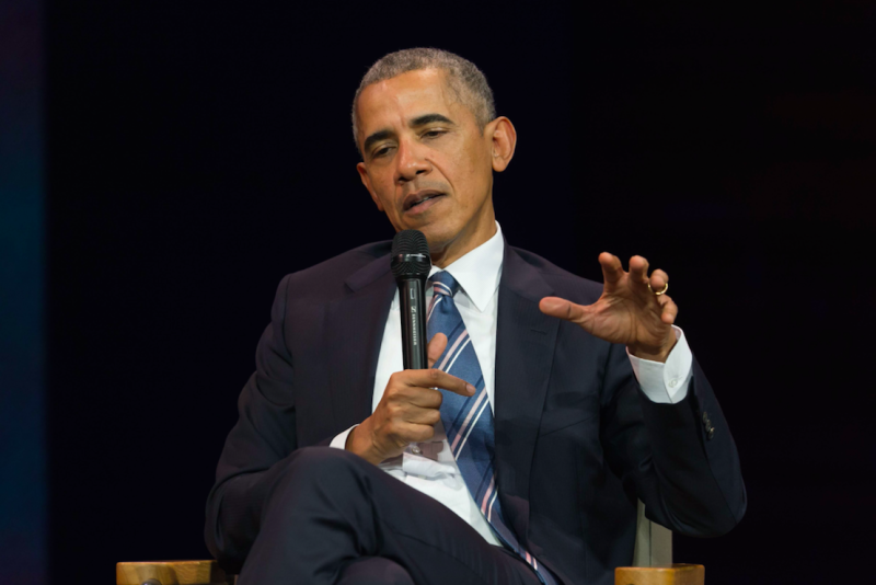 Barack Obama was named the eighth greatest US president (Picture: Rex)