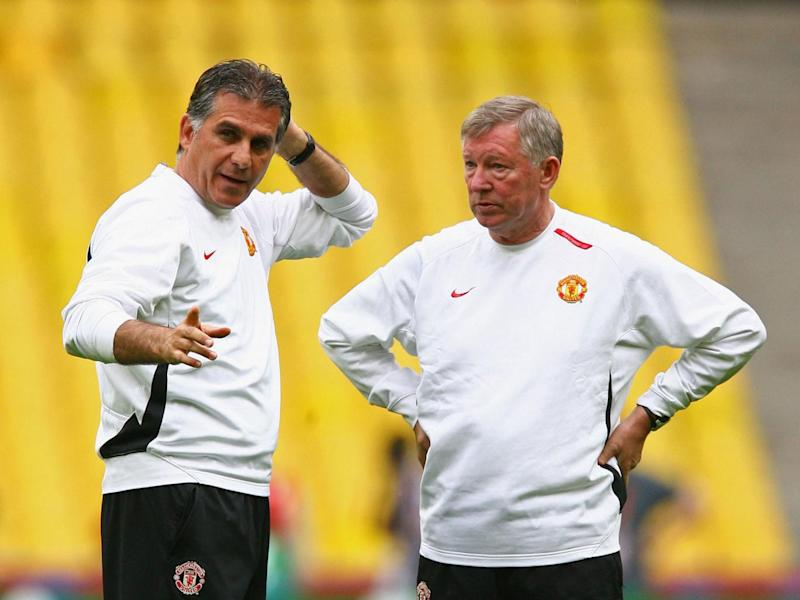 Sir Alex Ferguson was helped by Carlos Queiroz's presence (Getty)