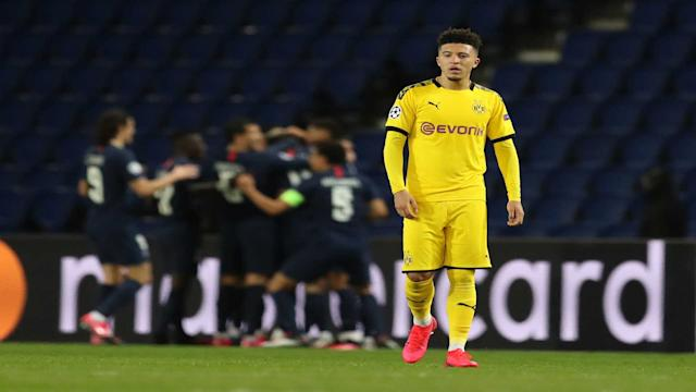 Jadon Sancho PSG Borussia Dortmund Champions League Getty Images 11032020