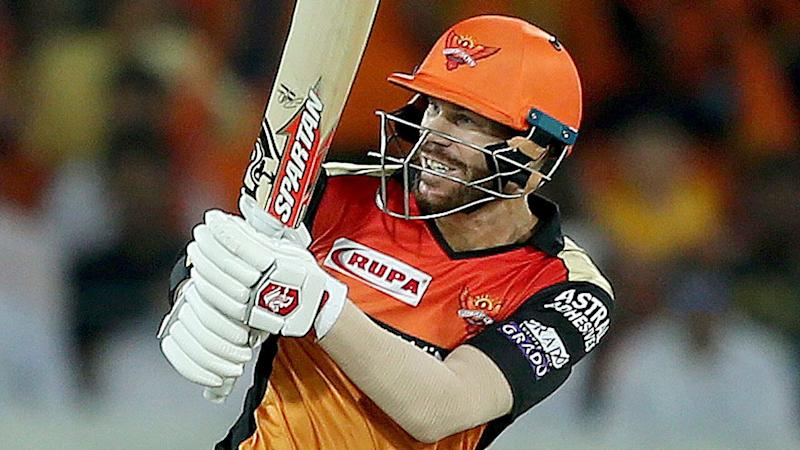 David Warner's IPL stint has come to an end with another big knock. Pic: AAP