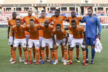 Jul 18, 2018; Houston, TX, USA; Houston Dynamo starting players pose for a picture before a game against Sporting Kansas City at BBVA Compass Stadium. Mandatory Credit: Troy Taormina-USA TODAY Sports