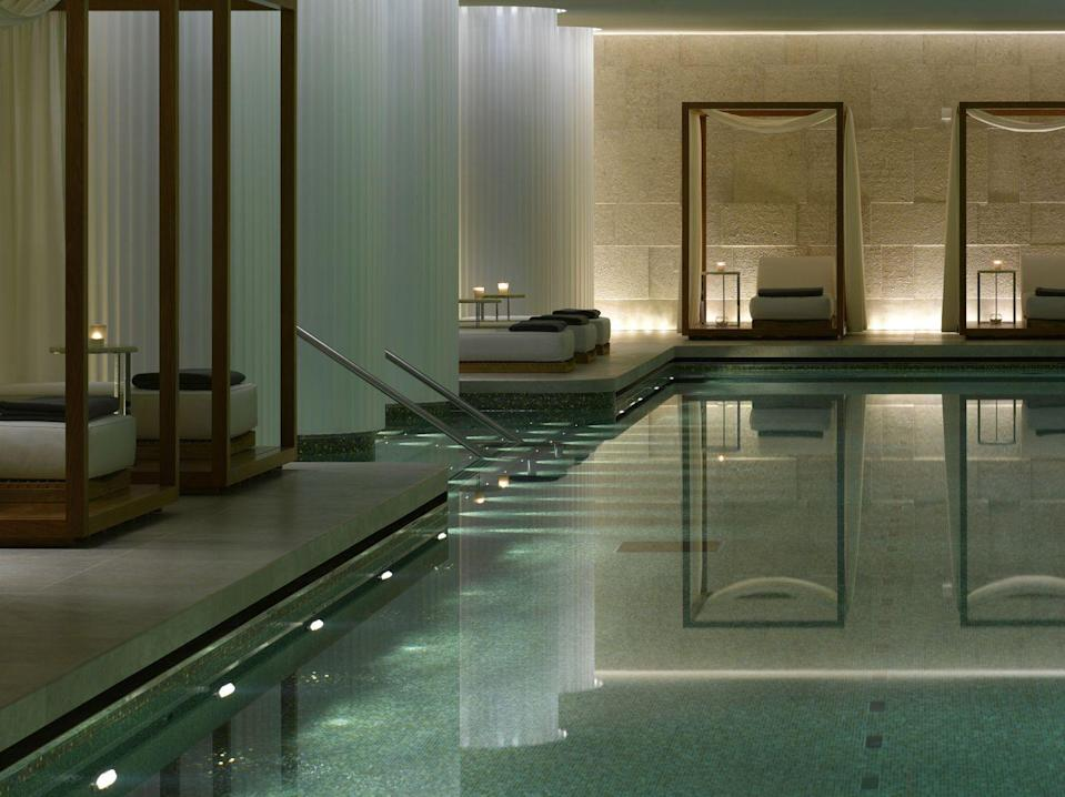 """<p>Post-facial, it's spa time at the <a href=""""https://www.bulgarihotels.com/en_US/london/spa-and-fitness/the-bulgari-spa"""" rel=""""nofollow noopener"""" target=""""_blank"""" data-ylk=""""slk:Bulgari"""" class=""""link rapid-noclick-resp"""">Bulgari</a>. This subterranean Knightsbridge sanctuary offers world-class treatments alongside the capital's most serene indoor pool, saunas and steam-rooms. The jacuzzi is a particular highlight – soak away stress while the hydrotherapy pool unravels every knot from back to neck.</p>"""