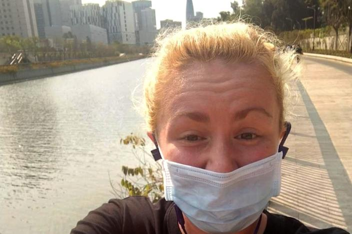 Jen Smith lives in Shenzhen, where it's compulsory to wear a mask outside at all times