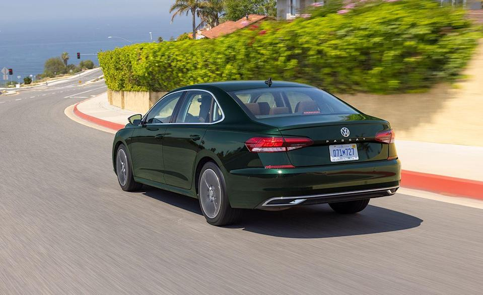 """<p>Volkswagen brought the <a href=""""https://www.caranddriver.com/volkswagen/passat"""" rel=""""nofollow noopener"""" target=""""_blank"""" data-ylk=""""slk:Passat"""" class=""""link rapid-noclick-resp"""">Passat</a> to the U.S. in 2011 hoping to soak up sales from the <a href=""""https://www.caranddriver.com/honda/accord"""" rel=""""nofollow noopener"""" target=""""_blank"""" data-ylk=""""slk:Honda Accord"""" class=""""link rapid-noclick-resp"""">Honda Accord</a> and <a href=""""https://www.caranddriver.com/hyundai/sonata"""" rel=""""nofollow noopener"""" target=""""_blank"""" data-ylk=""""slk:Hyundai Sonata"""" class=""""link rapid-noclick-resp"""">Hyundai Sonata</a>, which were selling nearly 480,000 units combined annually. The Passat didn't exactly steal the show; its bestselling year in 2012 was 117,023 units. That's roughly how many Accords have been sold in only six months this year. To celebrate its finale, Volkswagen is offering a <a href=""""https://www.caranddriver.com/news/a37069886/vw-passat-dead-2022-final-edition/"""" rel=""""nofollow noopener"""" target=""""_blank"""" data-ylk=""""slk:Passat Limited Edition"""" class=""""link rapid-noclick-resp"""">Passat Limited Edition</a> with subtle references to Chattanooga, Tennessee, where the Passat has been built for the past decade.</p>"""