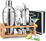 <p>For the amateur mixologist, the <span>Cocktail Shaker Set Bartender Kit</span> ($30) comes with a recipe book so your loved one can perfect their craft.</p>