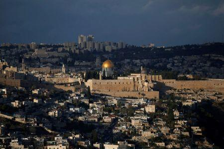 FILE PHOTO: A general view of Jerusalem shows the Dome of the Rock, located in Jerusalem's Old City on the compound known to Muslims as Noble Sanctuary and to Jews as Temple Mount December 6, 2017. REUTERS/Ronen Zvulun/File Photo