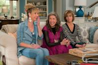 """<p>It's been 38 years since Jane Fonda and Lily Tomlin teamed up with Dolly Parton for the '80s workplace comedy, <em><a href=""""https://www.amazon.com/9-5-Jane-Fonda/dp/B005SAYWD8/?tag=syn-yahoo-20&ascsubtag=%5Bartid%7C10063.g.37608731%5Bsrc%7Cyahoo-us"""" rel=""""nofollow noopener"""" target=""""_blank"""" data-ylk=""""slk:9 to 5"""" class=""""link rapid-noclick-resp"""">9 to 5</a></em>. Yet their chemistry is still intact and never fails to spark in Netflix's <em>Grace and Frankie</em>, now on its <a href=""""https://www.oprahdaily.com/entertainment/tv-movies/a30536773/grace-and-frankie-season-7-release-date-trailer-news/"""" rel=""""nofollow noopener"""" target=""""_blank"""" data-ylk=""""slk:seventh and final season"""" class=""""link rapid-noclick-resp"""">seventh and final season</a>. The show begins on a sour note when frenemies Grace Hanson (Fonda) and Frankie Bergstein (Tomlin) discover their husbands are gay and are having an affair with each other. The two women end up taking respite in the beach house that served as their ex-husband's love den, but the irony of their surroundings doesn't stop the women from building an incredible bond over their heartbreak. </p><p><a class=""""link rapid-noclick-resp"""" href=""""https://www.netflix.com/title/80017537"""" rel=""""nofollow noopener"""" target=""""_blank"""" data-ylk=""""slk:Watch Now"""">Watch Now</a></p>"""