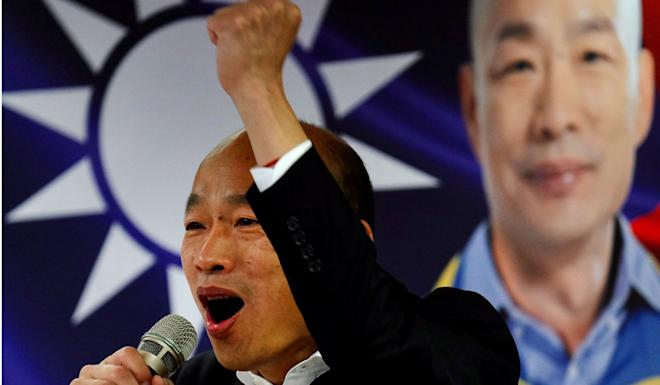 Kuomintang candidate Han Kuo-yu's support for Hong Kong's protests came too late, according to analysts. Photo: AFP