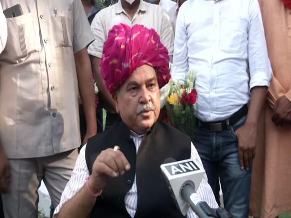 Union Agriculture Minister Narendra Singh Tomar speaking to ANI in New Delhi on Sunday.