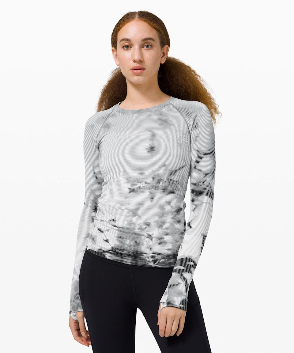 <p>Layer up in this <span>Lululemon Swiftly Tech Long Sleeve 2.0</span> ($64, originally $88).</p>