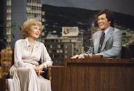 <p>With her early experience in live TV and comedic quips, Betty was a favorite on the talk show circuit. Here, she chats with a young David Letterman who was filling in on <em>The Tonight Show Starring Johnny Carson </em>in 1979.</p>