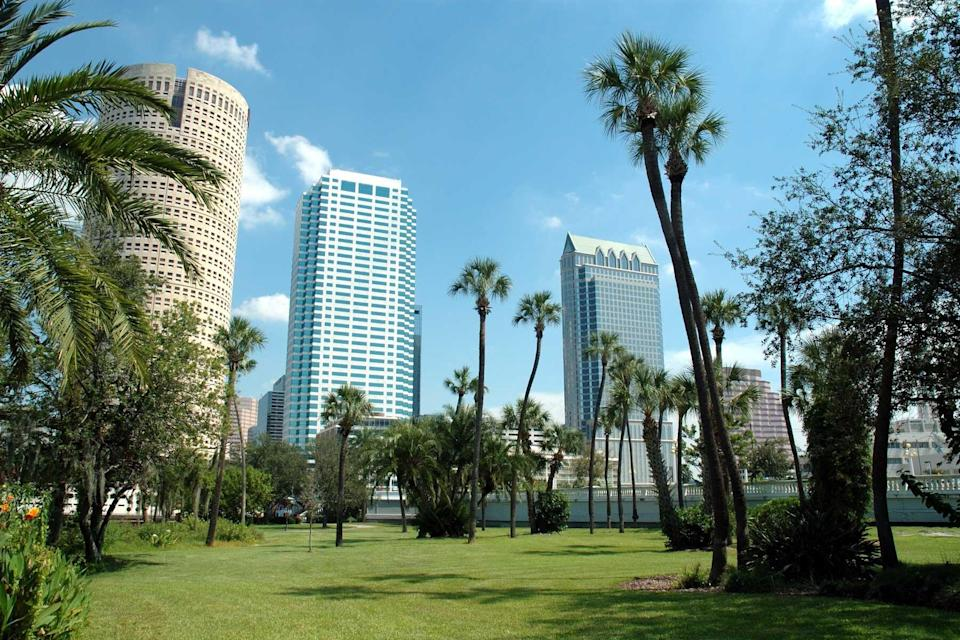 Downtown Tampa as seen from Plant Park