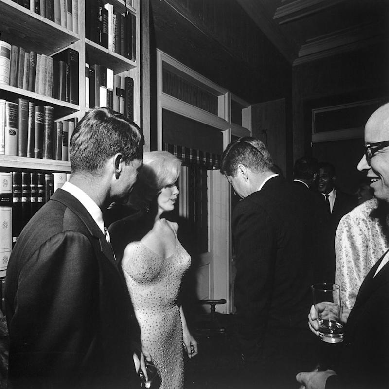 From left: Robert F. Kennedy, Marilyn Monroe and John F. Kennedy in 1962 | Cecil Stoughton/The LIFE Images Collection/Getty Images
