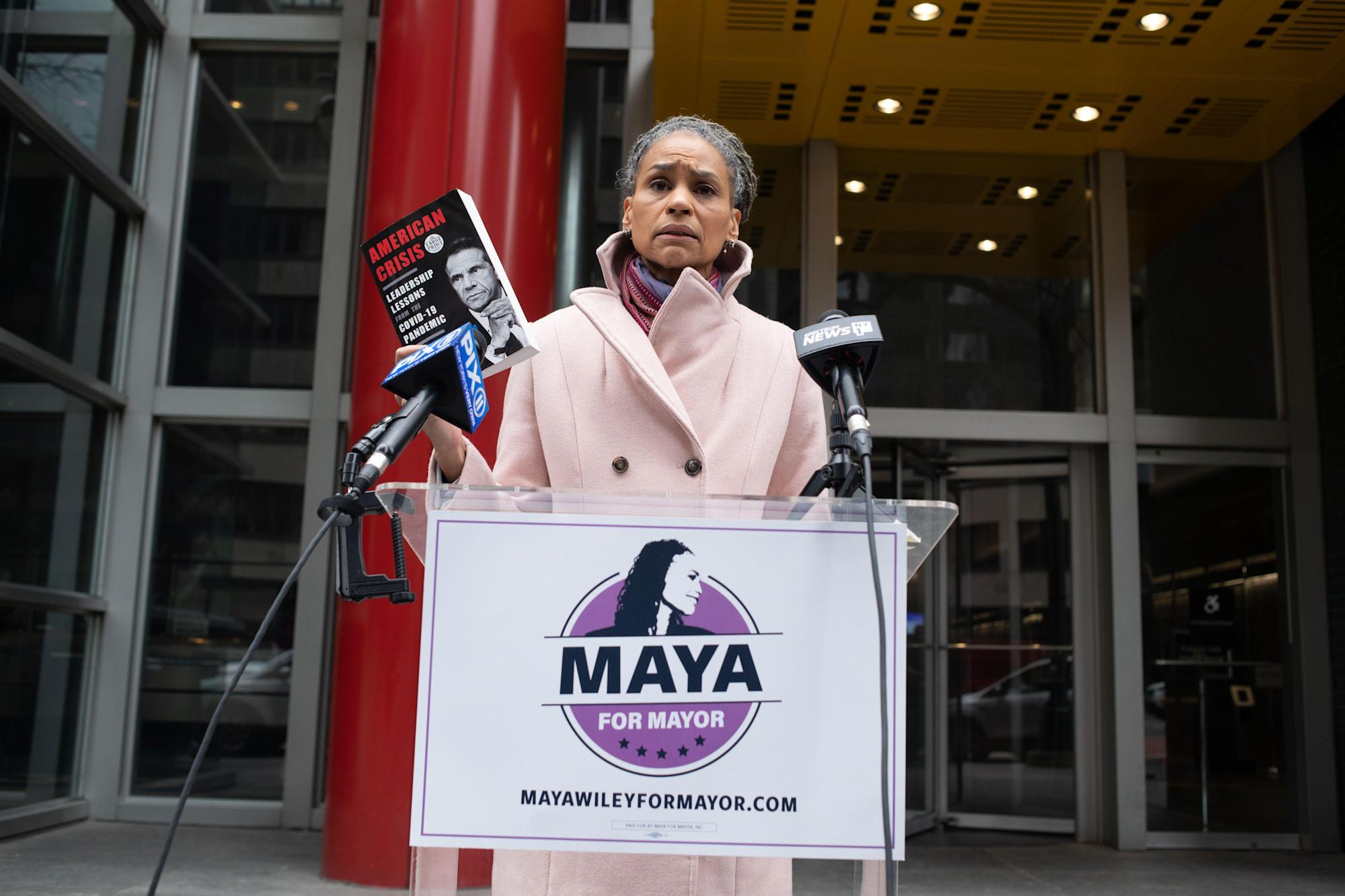 Mayoral wannabe Maya Wiley slams Cuomo over book scandal, vows NYC reforms