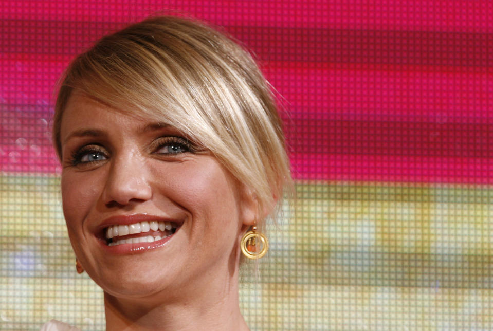 Actress Cameron Diaz attends an event to promote her film