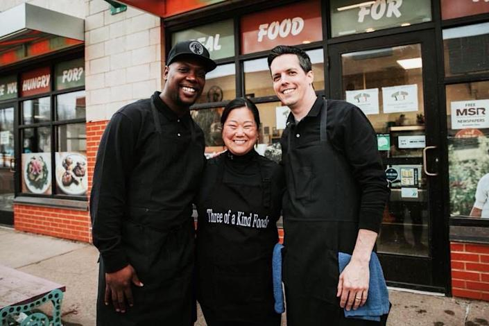 In 2018, Louis Hunter opened a plant-based soul food restaurant with Sarah and Dan Woodcock, a couple he met while protesting. (Brooke Reynolds)