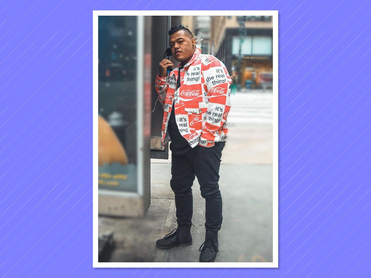"<p></p><p>This <a rel=""nofollow"" href=""https://www.instagram.com/dghramm/"">New Jersey native</a>'s unique sense of style and cohesive looks help prove that big-and-tall men can be street-style stars too. (Photo: Tony Trott) </p><p></p>"