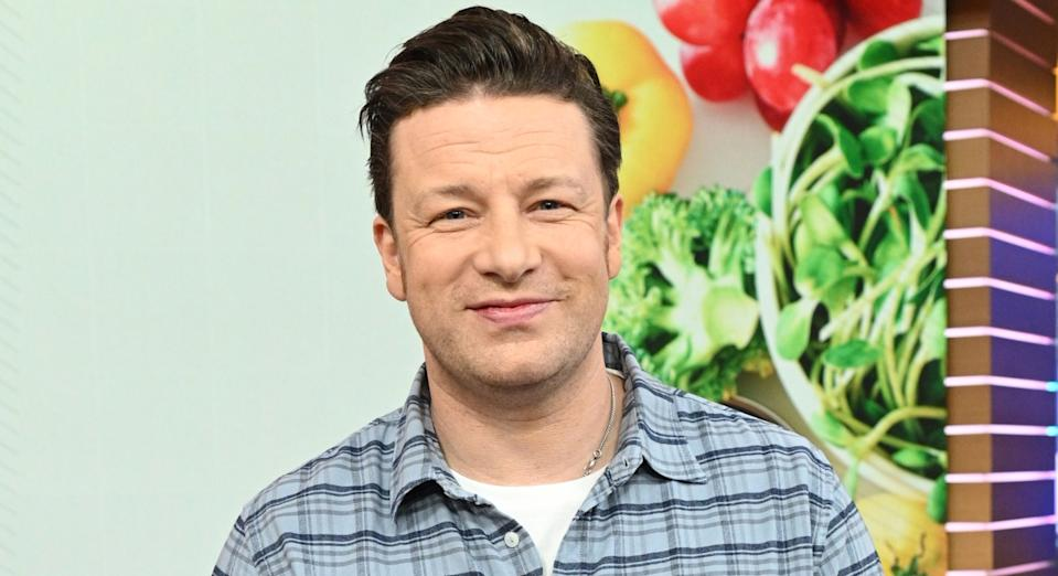 Jamie Oliver on Good Morning America in January 2019 (Getty)