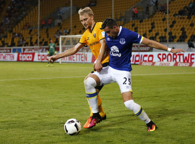 Football Soccer - Dynamo Dresden v Everton - Pre Season Friendly - Dresden Cup - DDV-Stadium, Dresden, Germany - 29/7/16 Everton's Ramiro Funes Mori in action Action Images via Reuters / Hannibal Hanschke Livepic