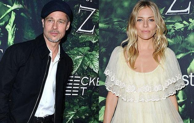 Sienna shoots down rumours she's dating Brad! Source: Getty