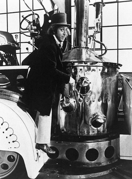 """FILE - This undated handout photo originally released by NBC shows Gene Wilder portrays Willy Wonka as the world's greatest confectioner in a scene from """"Willy Wonka and the Chocolate Factory,"""" directed by Mel Stuart. Stuart died Thursday, Aug. 9, 2012 of cancer at his home in Beverly Hills, Calif. He was 83. (AP Photo/NBC, file)"""