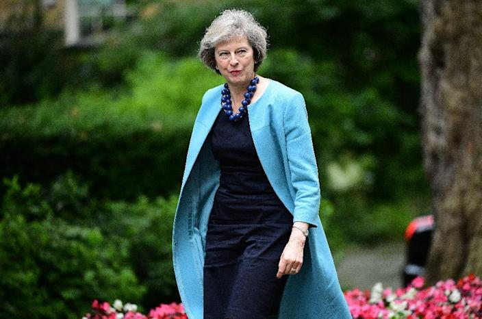 Theresa May, pictured on June 27, 2016, faces an uphill struggle to unite a country and a party deeply split by the referendum (AFP Photo/Leon Neal)