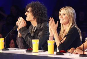 Howard Stern, Heidi Klum | Photo Credits: Skip Bolen/NBC
