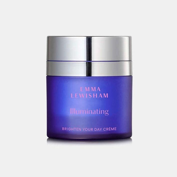 """With awesome Australian import Emma Lewisham Illuminating Brighten Your Day Crème, the proof is in the pudding — or the potent formula, rather — and the pretty purple jar is just a bonus. The brightening, clarifying, and hydrating mixture of must-have acids of the <a href=""""https://www.allure.com/story/what-is-hyaluronic-acid-skin-care?mbid=synd_yahoo_rss"""" rel=""""nofollow noopener"""" target=""""_blank"""" data-ylk=""""slk:hyaluronic"""" class=""""link rapid-noclick-resp"""">hyaluronic</a> and both alpha and <a href=""""https://www.allure.com/story/what-does-salicylic-acid-do?mbid=synd_yahoo_rss"""" rel=""""nofollow noopener"""" target=""""_blank"""" data-ylk=""""slk:beta hydroxy"""" class=""""link rapid-noclick-resp"""">beta hydroxy</a> varieties make it a must-replenish pick, and the <a href=""""https://emmalewisham.com/collections/all/products/illuminating-brighten-your-day-creme-refill?variant=37502126915745"""" rel=""""nofollow noopener"""" target=""""_blank"""" data-ylk=""""slk:refill pods"""" class=""""link rapid-noclick-resp"""">refill pods</a> save you a couple bucks and lots of otherwise wasteful packaging."""