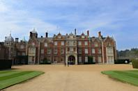 """<p><a href=""""https://www.royal.uk/royal-residences-sandringham-house"""" rel=""""nofollow noopener"""" target=""""_blank"""" data-ylk=""""slk:This 19,000-acre estate"""" class=""""link rapid-noclick-resp"""">This 19,000-acre estate </a>is a private residence of the royal family near Norfolk, England. The Queen inherited the property from her family in 1952, with Prince Philip taking charge for the home's management and upkeep. The royal family usually celebrates Christmas at Sandringham House and attends religious services at the Church of St. Mary Magdalene, which is located on the grounds.</p>"""