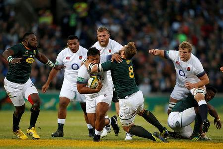 England's Billy Vunipola in action. REUTERS/Siphiwe Sibeko