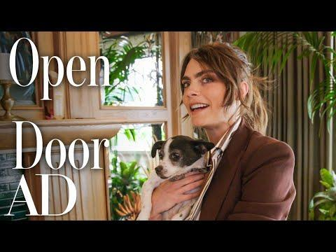 """<p>The model and actor covers Architectural Digest to show the magazine her 'fun house' in LA. And, by fun house, we mean a ball pit, music room, a mini casino, Gucci wallpaper and a games room.</p><p>As well as the obvious fun elements like the extravagant wallpaper, translucent piano, David Bowie-shrine bathroom and incredible swimming pool, there are more hidden aspects to the house such as the 'vagina tunnel' which is behind a glass door in the living room and is where Delevingne goes to 'think and create'.</p><p><a href=""""https://www.youtube.com/watch?v=vx09_4cEzlM"""" rel=""""nofollow noopener"""" target=""""_blank"""" data-ylk=""""slk:See the original post on Youtube"""" class=""""link rapid-noclick-resp"""">See the original post on Youtube</a></p>"""