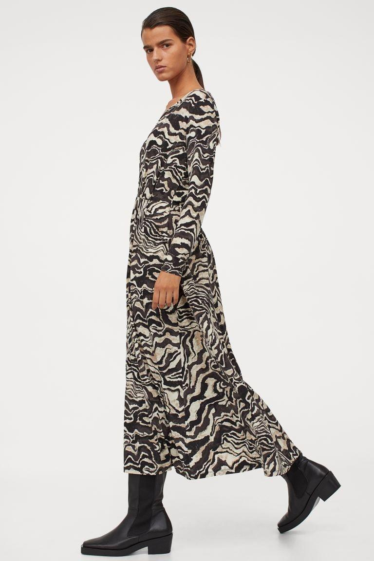 <p>If you're into animal prints, this <span>Long V-neck Dress</span> ($21, originally $50) will make a bold statement.</p>