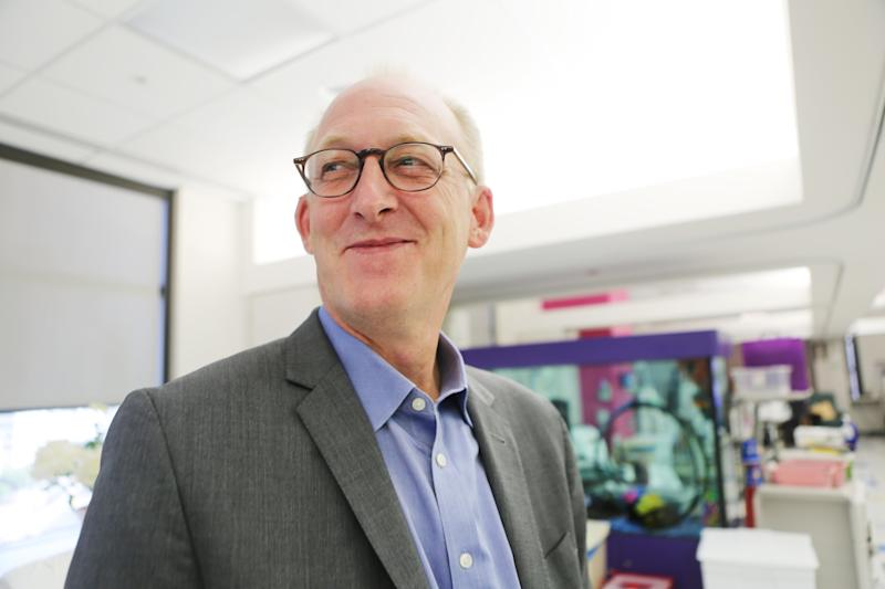 Dr. Michael Braun, chief of the pediatric nephrology center at Texas Children's Hospital, was pivotal in the mission to save dozens of dialysis patients stuck in the storm without treatment. (Andy Campbell/HuffPost)