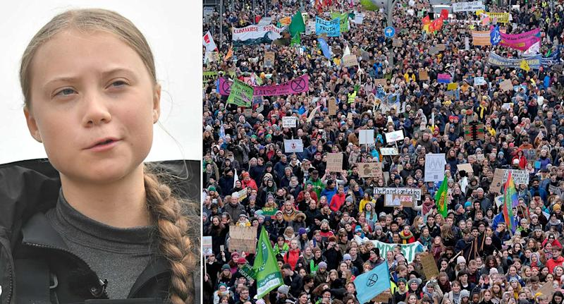 Young climate change protesters inspired by Greta Thunberg