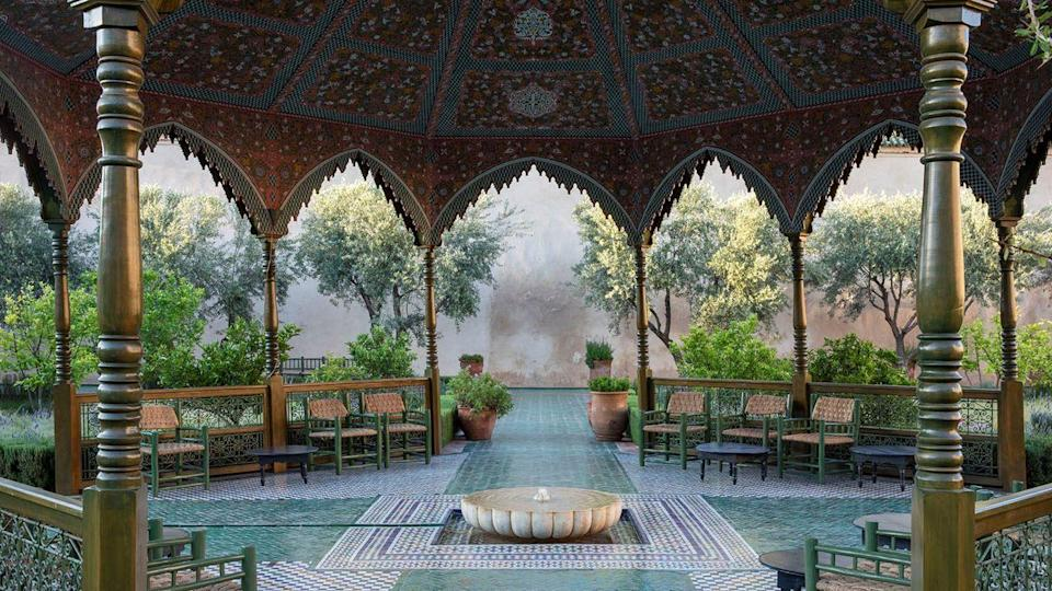 <p>Le Jardin Secret's origins can be traced back as far as the 16th century, when Saadian Sultan Moulay 'Abd-Allah urbanized the city's Mouassine district. After changing hands for centuries, the property was carefully renovated for eight years and reopened in 2016, featuring spectacular architecture and a stunning garden.</p><p>The garden is divided into an Islamic and exotic green space to both honor the city's rich history as well as some of the world's most beautiful vegetation. The Islamic garden is designed to evoke a picture of heaven described in the <em>Koran</em>, while the exotic garden pays homage to the experimental aspect of Marrakech's gardens of yesteryear.</p>