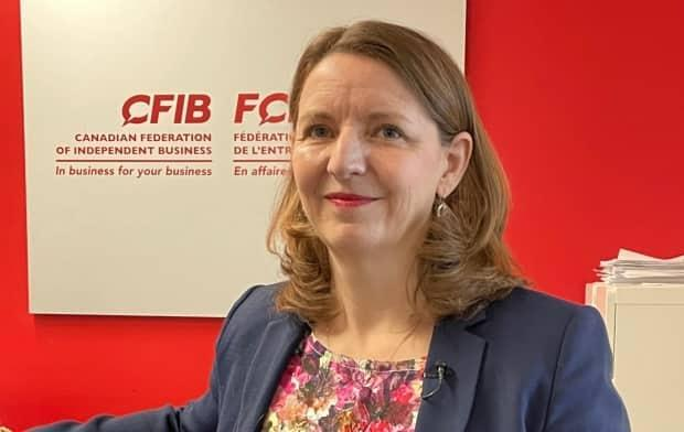 Laura Jones, vice-president of the Canadian Federation of Independent Business, says it can be 'extremely challenging' for small businesses to deal with the bureaucracy of financial institutions.
