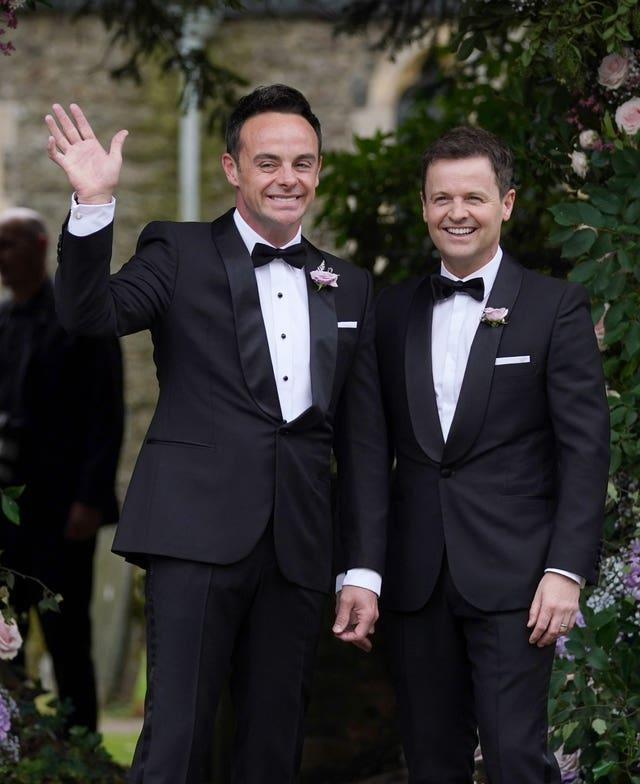 Anthony McPartlin, with Declan Donnelly