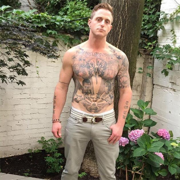 Cameron Douglas shows off his impressive tattoo collection. Source: Instagram