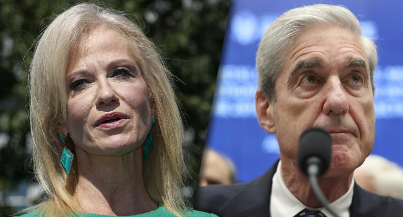 Kellyanne Conway and former special counsel Robert Mueller. (Photos: Jacquelyn Martin/AP, Andrew Harnik/AP)