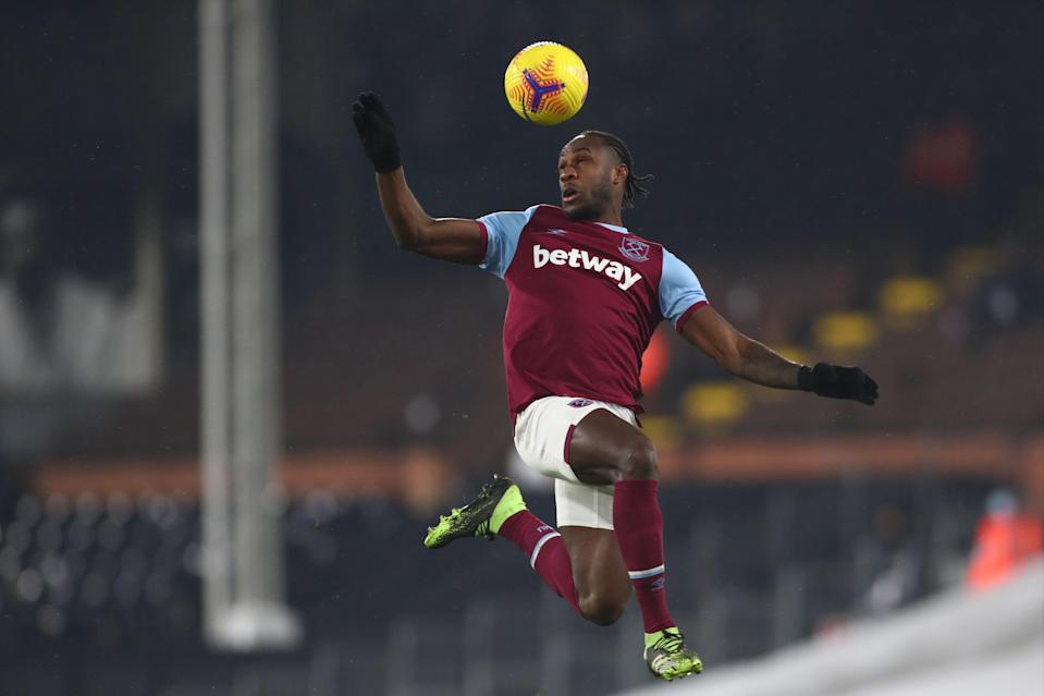 <p>Will Michail Antonio be fit to start for West Ham against Tottenham?</p> (POOL/AFP via Getty Images)