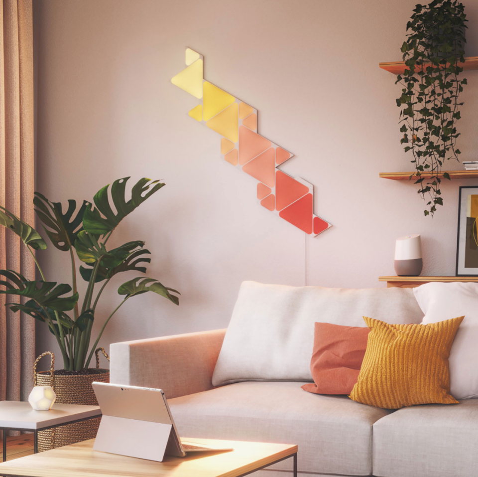Nanoleaf Shapes Triangle Panels (Photo via Best Buy Canada)