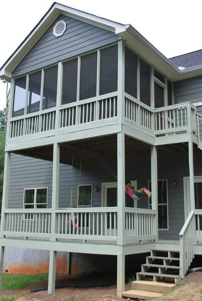"""<h2>Lake Wedowee, Alabama</h2><br><strong>Location:</strong> Wedowee, Alabama<br><strong>Sleeps:</strong> 11<br><strong>Price Per Night:</strong> <a href=""""https://airbnb.pvxt.net/z5d9m"""" rel=""""nofollow noopener"""" target=""""_blank"""" data-ylk=""""slk:$188"""" class=""""link rapid-noclick-resp"""">$188</a><br><br>""""The 'Bearfoot Lodge' is a beautifully decorated, completely furnished Lakefront home, ready for you and your family to enjoy a memorable vacation. Tucked in the trees on a lovely shady cove, with your own dock and boat!""""<br><br><h3>Book <a href=""""https://airbnb.pvxt.net/z5d9m"""" rel=""""nofollow noopener"""" target=""""_blank"""" data-ylk=""""slk:Beautiful Lake House With Pontoon Boat"""" class=""""link rapid-noclick-resp"""">Beautiful Lake House With Pontoon Boat</a><br></h3><br>"""