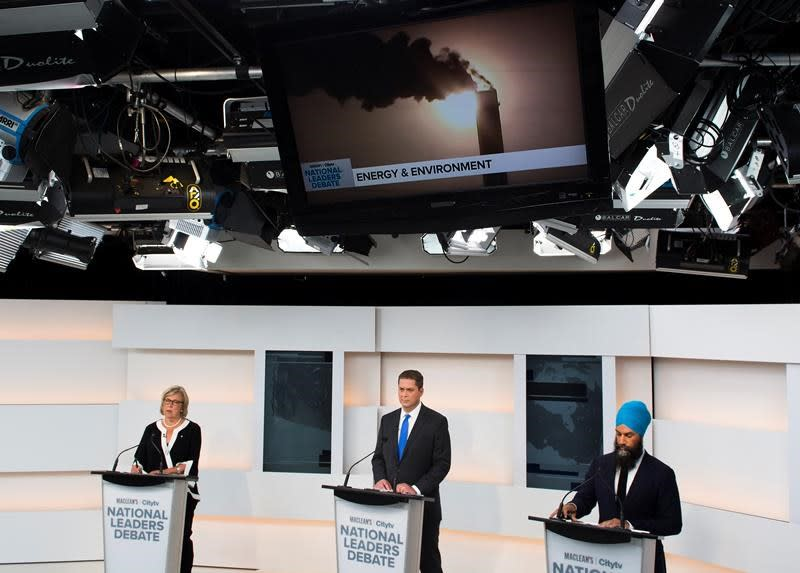 A little of what was said in the first debate of the federal election campaign